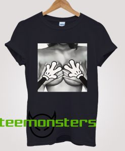 Mickey Mouse Hands On Boobs T-shirt