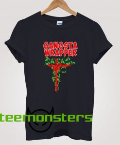 Gangsta Wrapper Christmas T-shirt