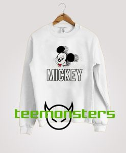 Mickey Mouse Head Spell Out Sweatshirt