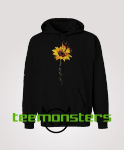 Sunflower Butterfly Never Give Up Hoodie