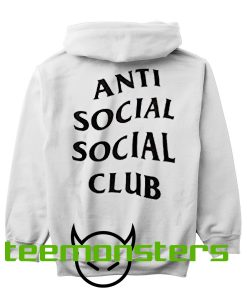 Anti Social Club ASSC Black Text Back Hoodie
