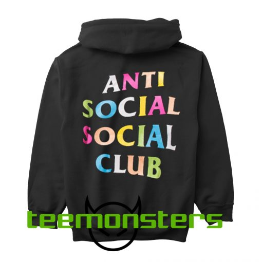 Anti Social Club ASSC Multicolor Back Hoodie