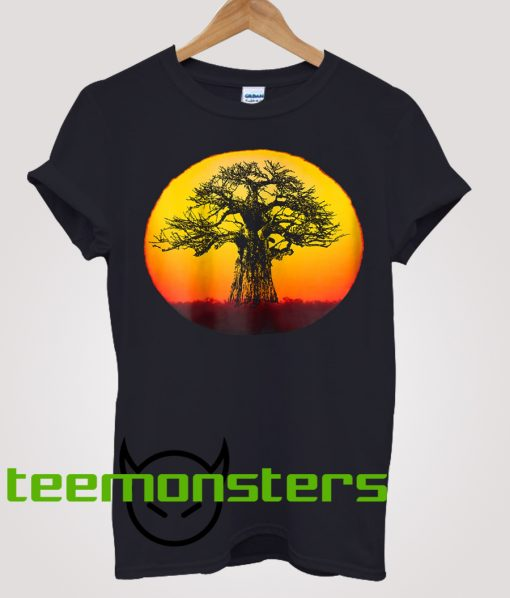 Baobab Tree At Sunset T-shirt