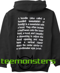 Vetements Definition Embroidery Hoodie