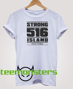 516 Nassau County New York - White Long Sleeve T-shirt