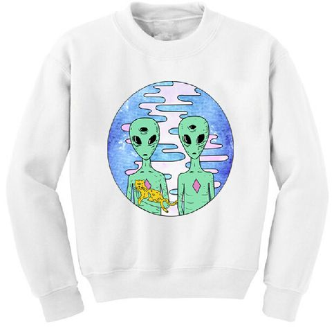 Aliens with cat sweater DN