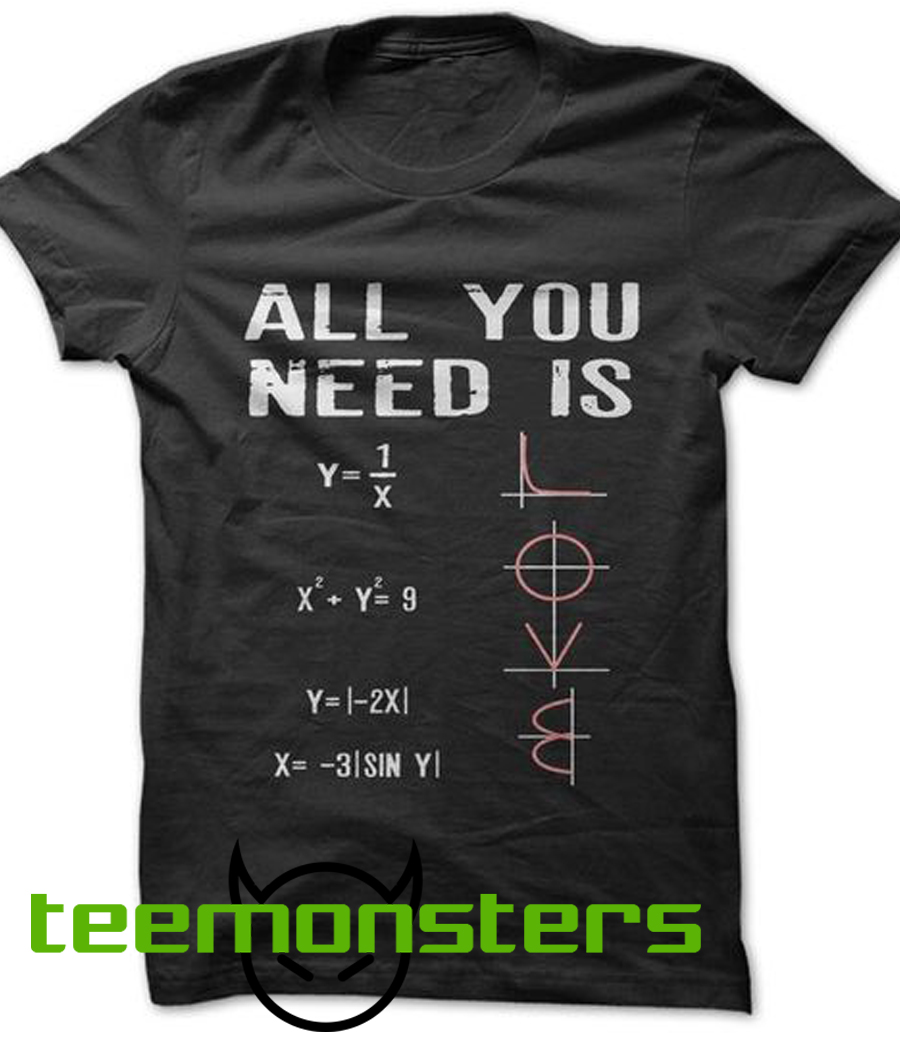 All You Need Is Math Formulas T-shirt