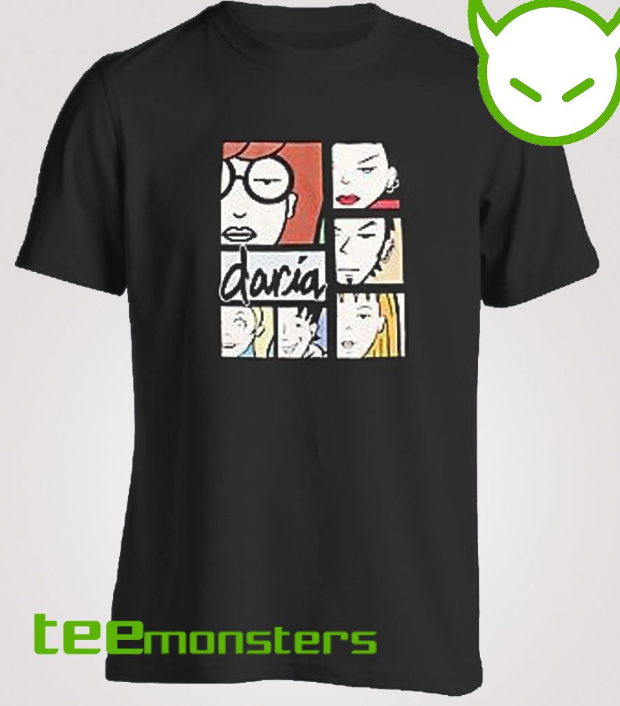Daria Character Collage T-shirt