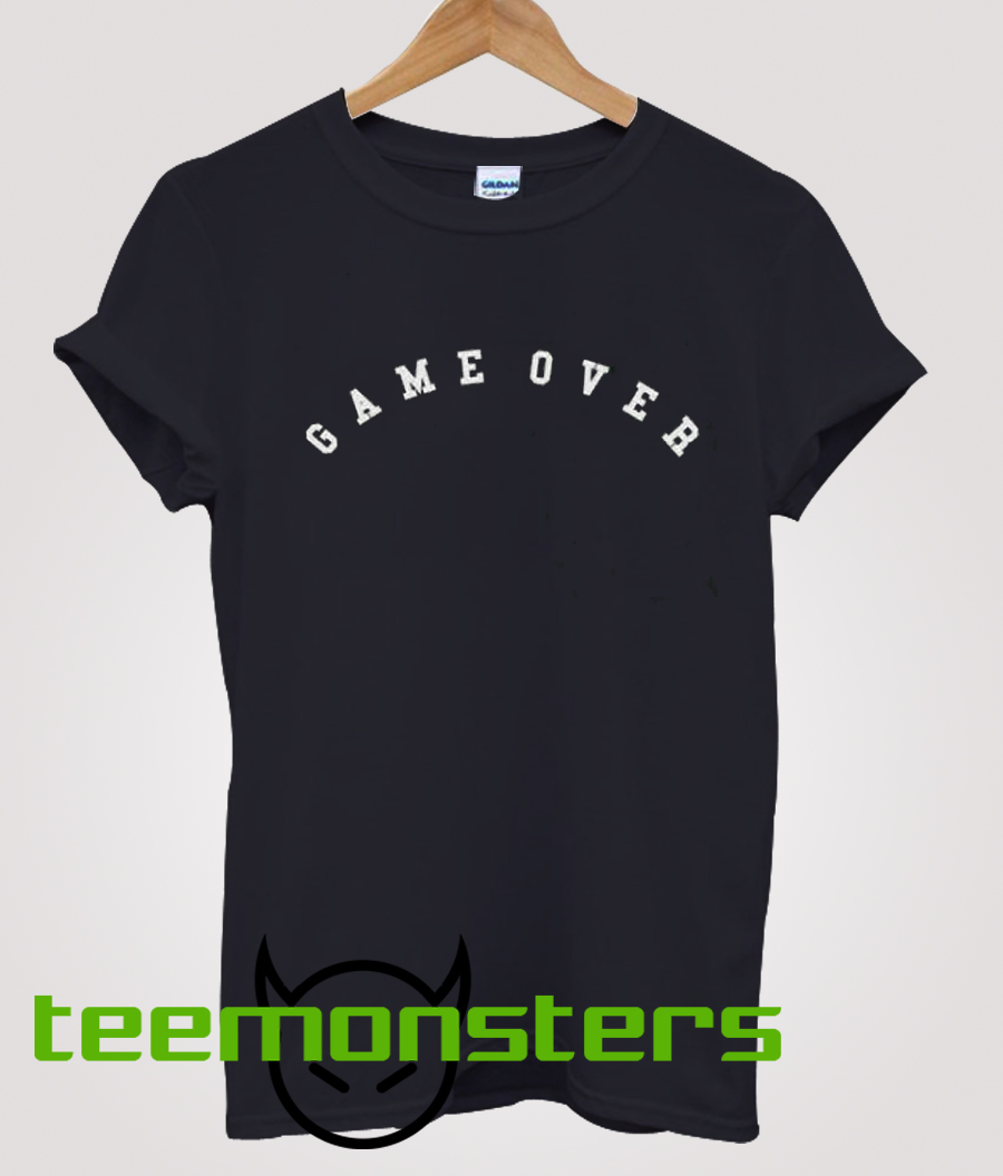 Game Over Text T-shirt