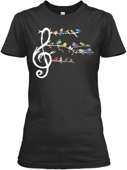 Birds and Music T-shirt RE23