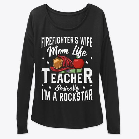 Firefighter Wife Mom Life Teacher Valentines Women's Sweatshirt IGS