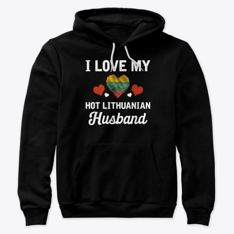 I Love my hot Lithuanian Husband Valentine Hoodie IGS