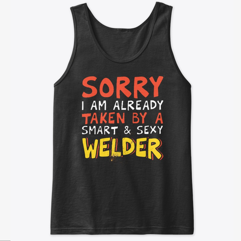 Valentine's Day Welder's Wife Gift Tank Top IGS
