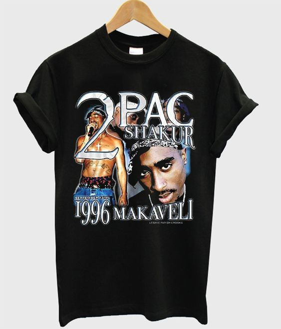 2 pac shakur 1996 makaveli t-shirt RE23