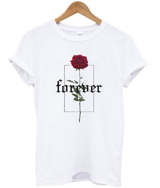 Forever Rose Printed T-Shirt RE23
