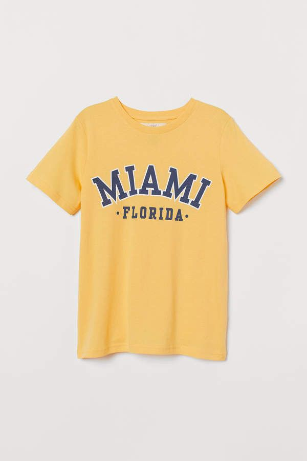 Miami T-shirt with Printed Design RE23