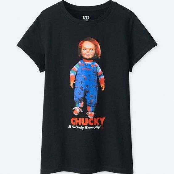 Women Back To The 80s Graphic Tee Shirts Chucky RE23