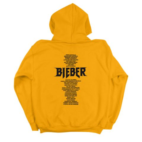 Yellow stadium biber Back Hoodie RE23