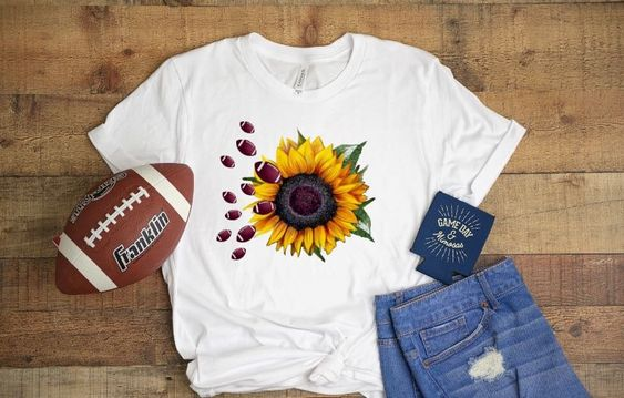 Football Sunflower T Shirt ZX03