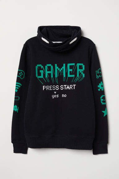 Gamer Press Start Yes Or No Hoodie ZX03