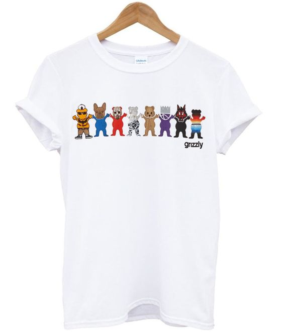 grizzly squad t-shirt ZX03