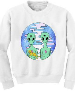 Aliens with cat sweater ZX03